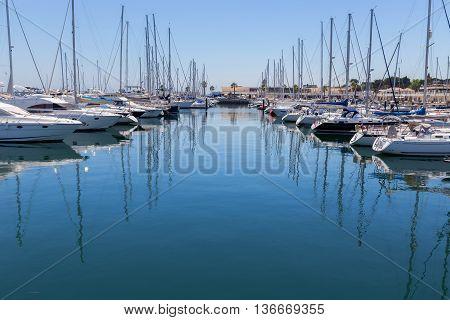 Yachts And Boats In Coast Marine
