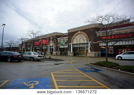 JOLIET, ILLINOIS / UNITED STATES - NOVEMBER 26, 2015: People shop for groceries at the Jewel-Osco grocery store on Thanksgiving Day..