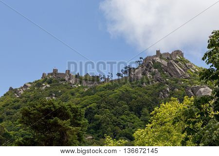 Historic Fortress On Top Of Mountain