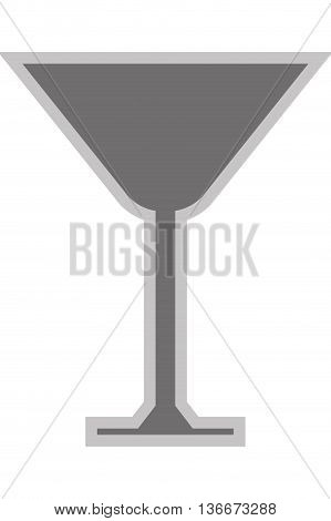 simple flat design martini glass icon vector illustration