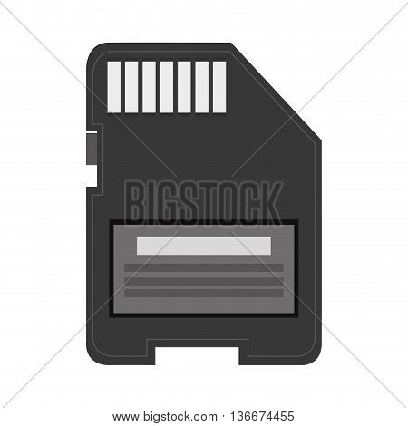 simple flat design sd card icon vector illustration