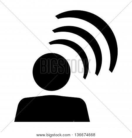 simple flat design person pictogram talking icon vector illustration