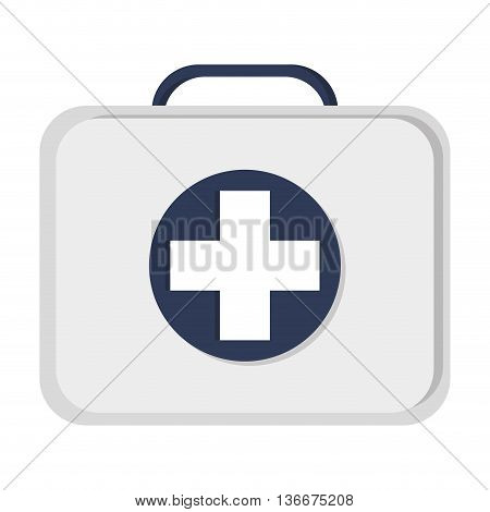 simple flat design first aid kit icon vector illustration