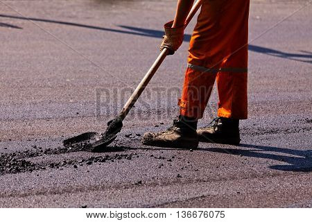 Asphalting Of The Road