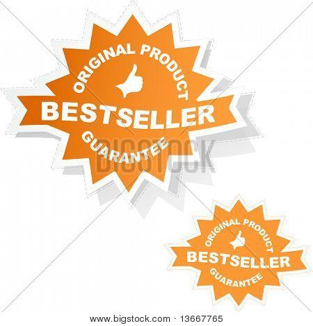 Bestseller emblem. Vector illustration.