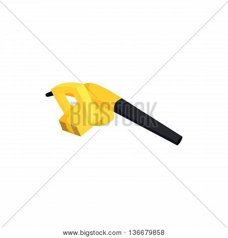 Small vacuum for cleaning computers icon in cartoon style on a white background