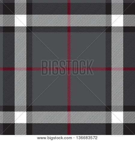 Gray fabric texture check seamless. Vector illustration.