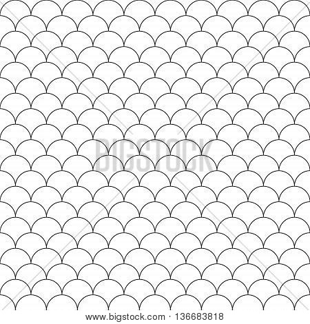 simple seamless pattern fish scales. Vector illustration. EPS 10.