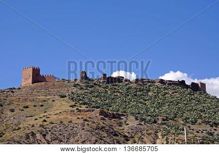 Arabic Fortress (Nazari castle) Tabernas Almeria Province Andalucia Spain Western Europe.