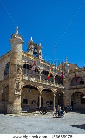 Town Hall In Mayor Square Of Ciudad Rodrigo, Salamanca. Spain.