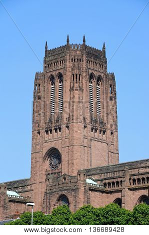 Liverpool Anglican Cathedral Liverpool Merseyside England UK Western Europe.