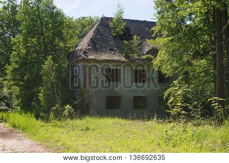 Abandoned building, ruin in the forest, lost places