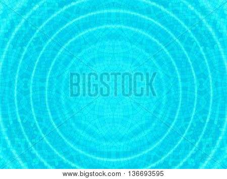 Bright blue cell concentric pattern with round ripples