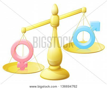 Gender Equality Scales Concept