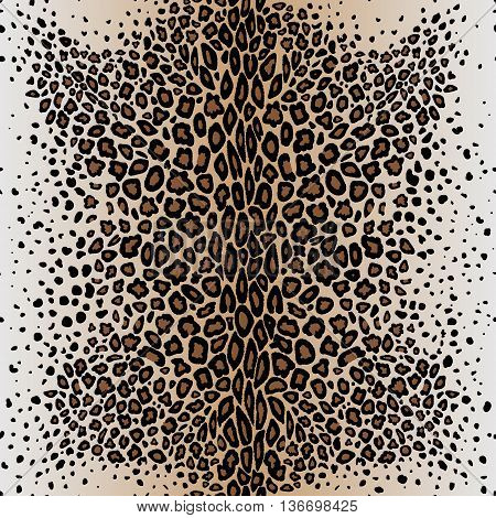 The seamless vector pattern leopard`s skin. Leopard print.