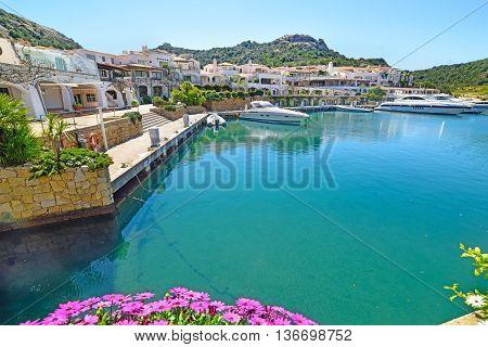 Poltu Quatu village in Costa Smeralda, Sardinia