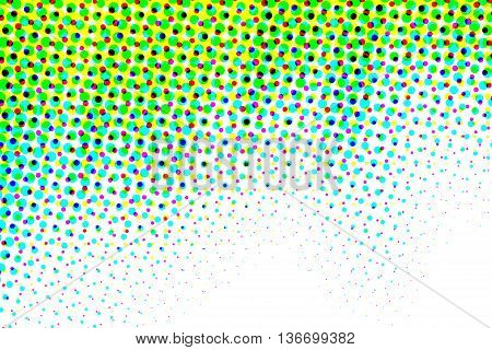 Green, blue and white half tone pattern abstract background
