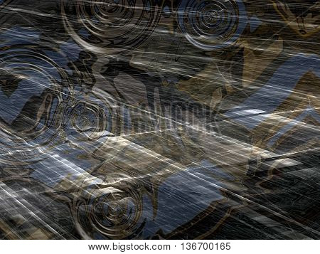 Abstract wavy background - computer-generated image. Chaos waves and ripples. Trendy background for web design, banners, posters