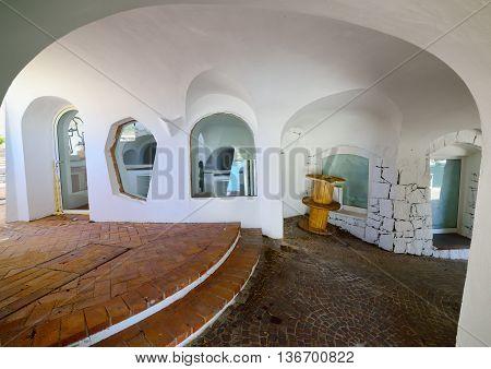 architectural detail of Poltu Quatu in Costa Smeralda Sardinia