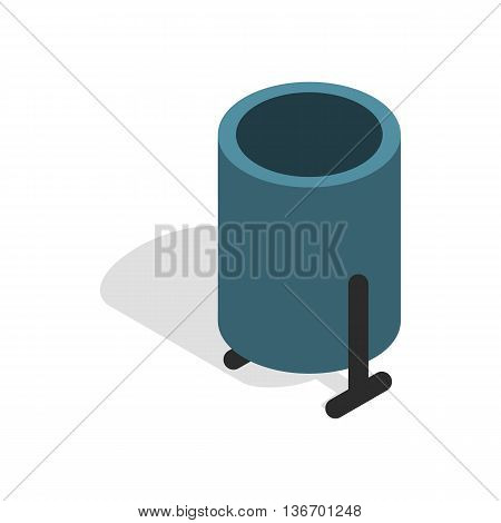 Outdoor bin icon in isometric 3d style on a white background