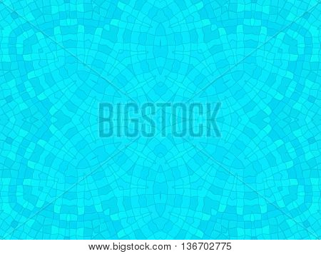 Bright blue abstract background with concentric pattern