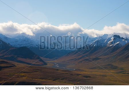 Mountain Cloud And Landscape View In Denali National Park