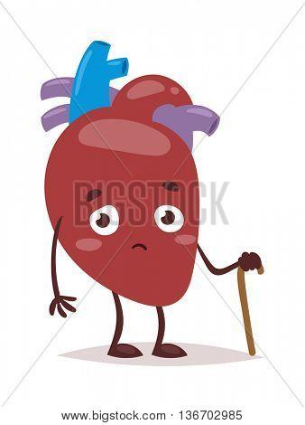 Heart problems vector illustration.