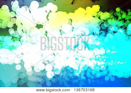 Blue and yellow colors used to create abstract background