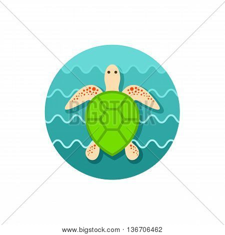 Sea turtle vector icon. Beach. Summer. Summertime. Holiday. Vacation eps 10