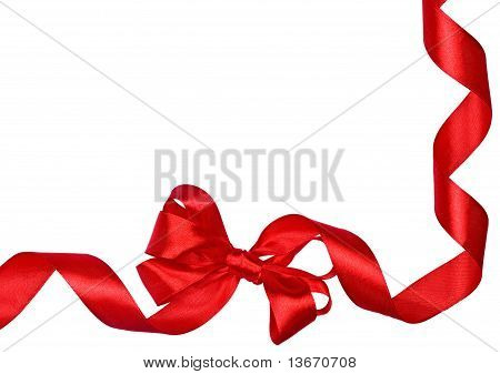 Red Bow Ribbons Border