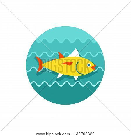 Tuna vector icon. Fishing. Summer. Summertime. Holiday. Vacation eps 10