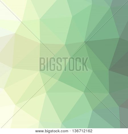 The background triangles. Abstract geometric background with polygons. Background triangulation. Color light green