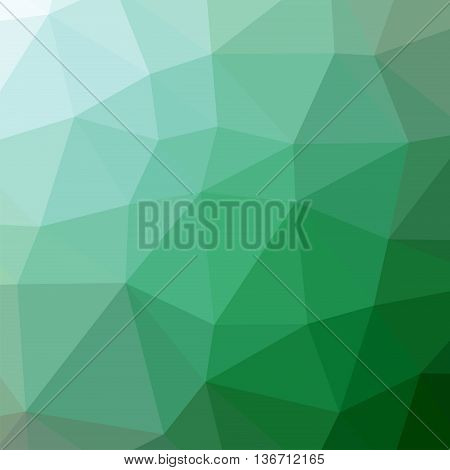 The background triangles. Abstract geometric background with polygons. Background triangulation. Color green