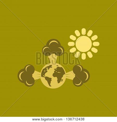 flat icon on stylish background nature earth greenhouse effect