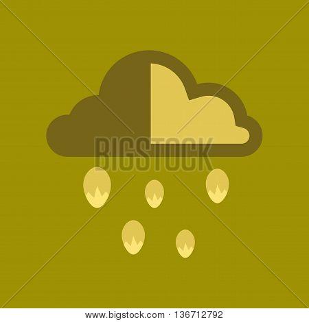 flat icon on stylish background nature cloud hail