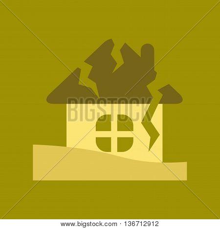 flat icon on stylish background nature house crash