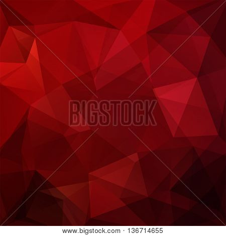 Abstract Geometric Style Red Background. Dark Red Business Background Vector Illustration