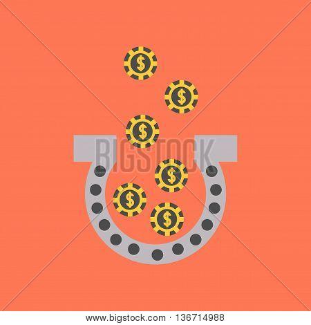 flat icon on stylish background poker good luck logo