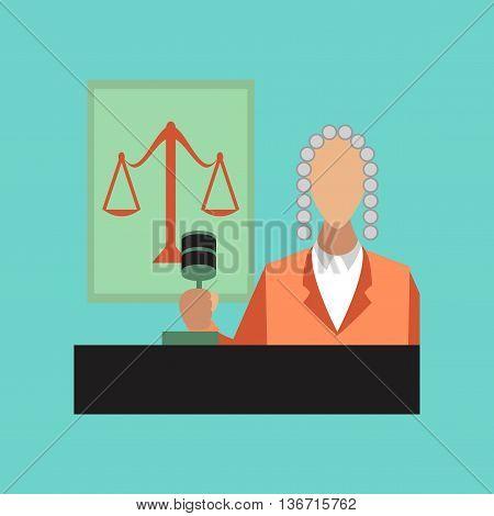 flat icon on stylish background education jurisdiction judge