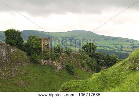 Peveril Castle. Located in Castleton, Peak District