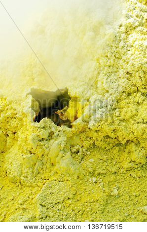 Sulfur of Ebeko Volcano Paramushir Island Kuril Islands Russia