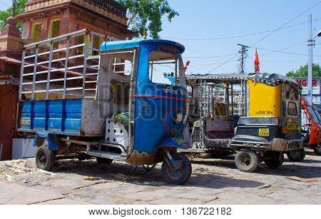 Auto Rickshaw Taxi On Sept 20, 2013 In Jodhpur, India.