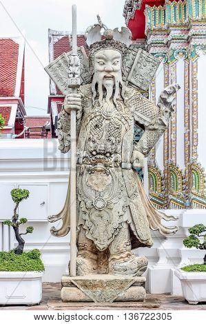 sculpture china dolls at wat pho Bangkok Thailand