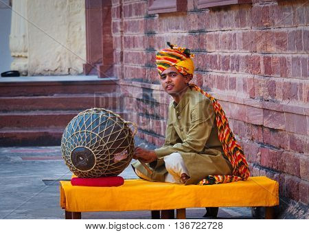 Indian Musician  Playing Musical Instruments