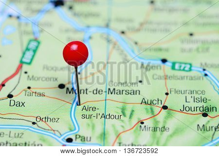 Aire-sur-Adour pinned on a map of France