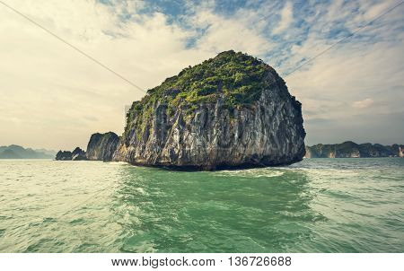 Rocks of Halong Bay, Vietnam