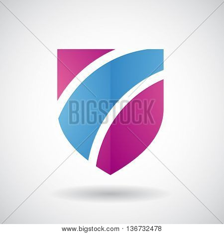 Design Concept of a Logo Shape and Icon of a Striped Shield