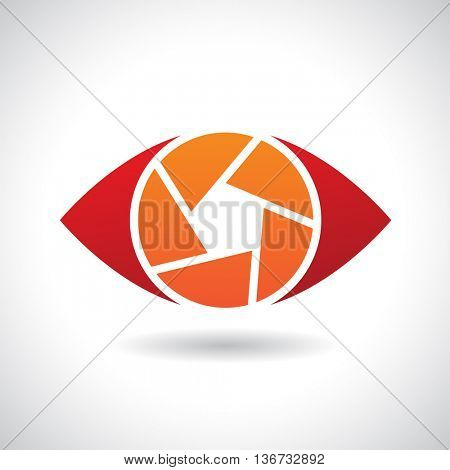 Design Concept of a Logo Shape and Icon of a Shutter Eye