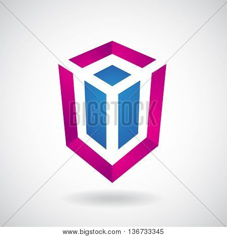 Design Concept of a Logo Shape and Icon of a Rectangular Cube
