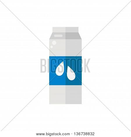 Pack of milk. Pack of milk icon isolated on white background. Fresh milk. Flat style vector illustration.